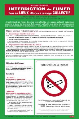 Panneau D Interdiction De Fumer Ceres Registres Legaux Obligatoires